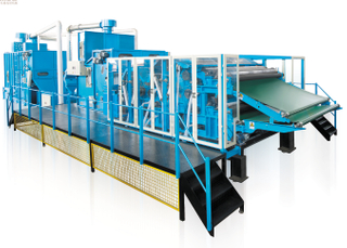 HONGE-1850mm Width Nonwoven Single Cylinder Double Doffer Wool Carding Machine